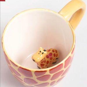 World Market Giraffe Mug w/ Surprise Baby Giraffe!